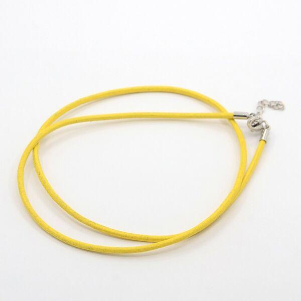 Sárga bőr nyaklánc alap