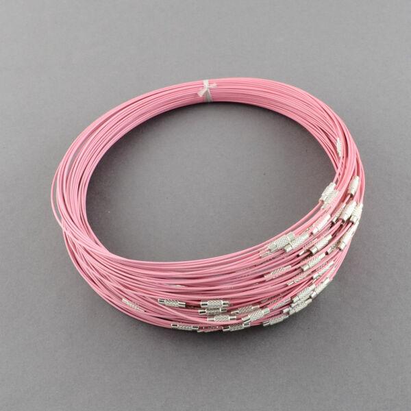 Pink rozsdamentes acél drót nyaklánc
