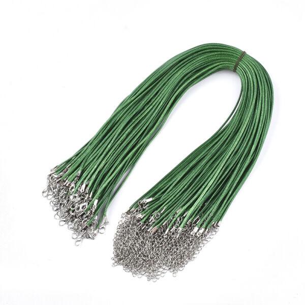 Zöld viaszolt zsinór nyaklánc