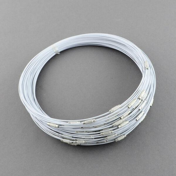 Galambszürke rozsdamentes acél drót nyaklánc