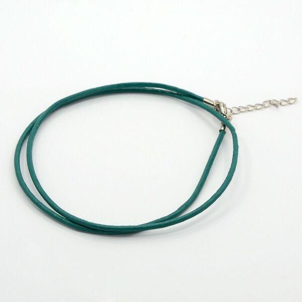 Kékes zöld bőr nyaklánc alap