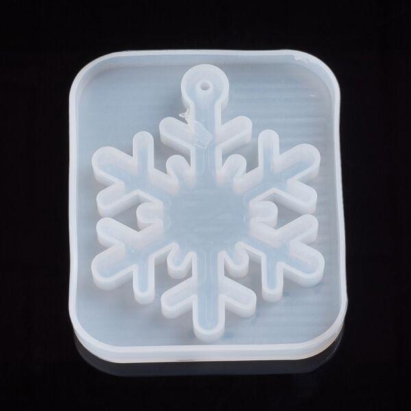 Szilikon hópihe öntőforma karácsonyfadísz öntéshez