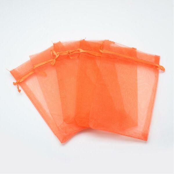 Sötét narancs organza tasak (23x17cm)