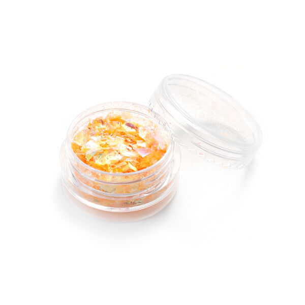 Narancs színű glitter fólia pehely