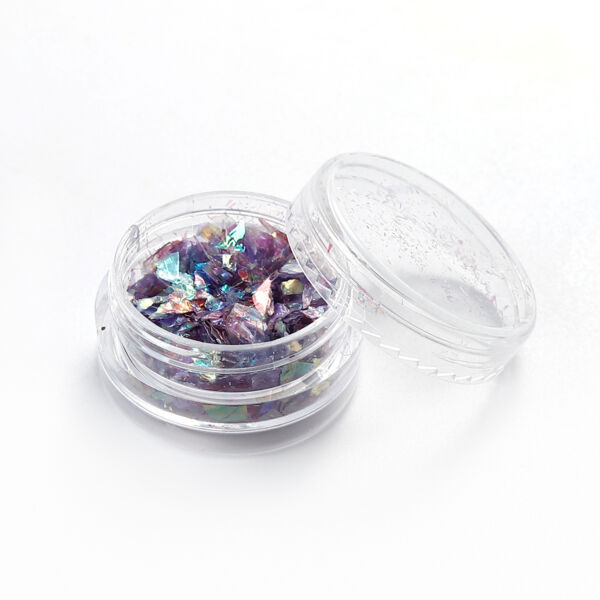 Lila színű glitter fólia pehely