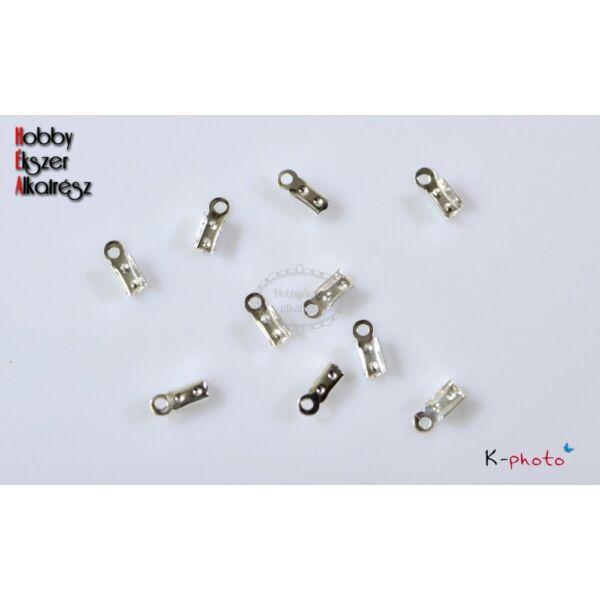 10 db antikolt ezüst színű bőrvégzáró (9x3mm)