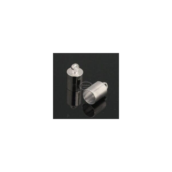 Antikolt ezüst színű végzáró (14x10mm)