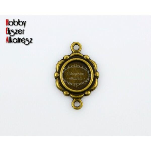 Antikolt bronz színű tányéros kapcsolóelem (9,5mm)