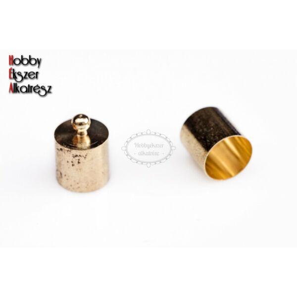 Arany színű végzáró zsinórhoz (14x10mm)