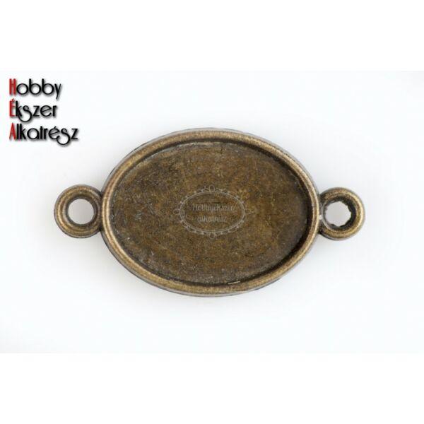 Antikolt bronz színű dupla oldalú kapcsolóelem (13x18mm)