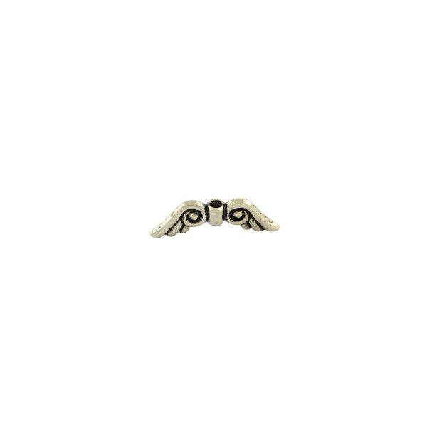 Antikolt ezüst színű angyalszárny köztes (5x15mm)