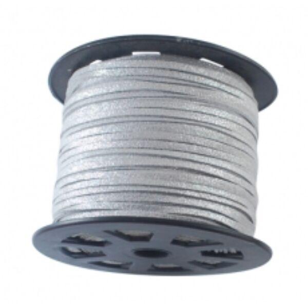 Ezüst színű hasított bőrszál (3mm)