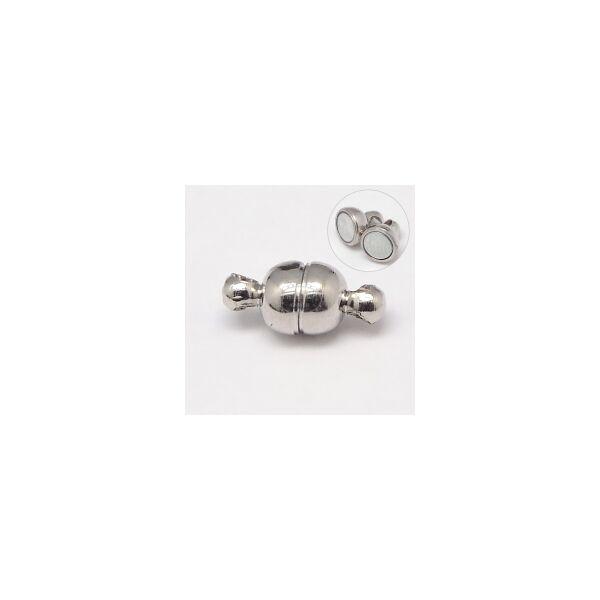 Antikolt ezüst színű mágneskapocs (11x5mm)