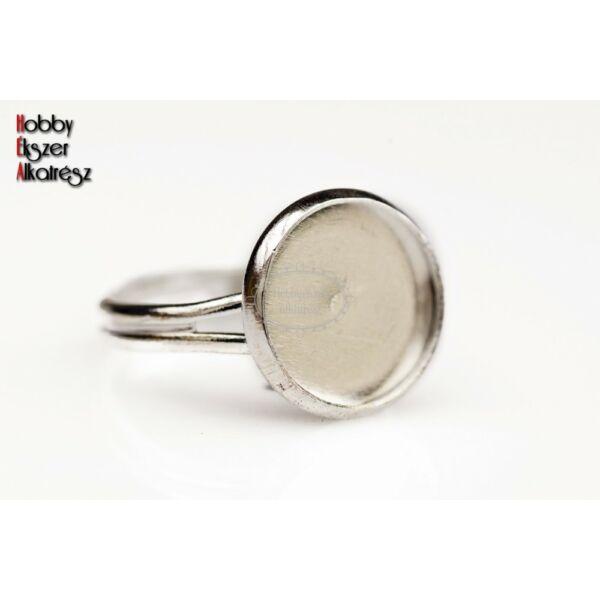 Antikolt ezüst színű gyűrűalap (12mm)