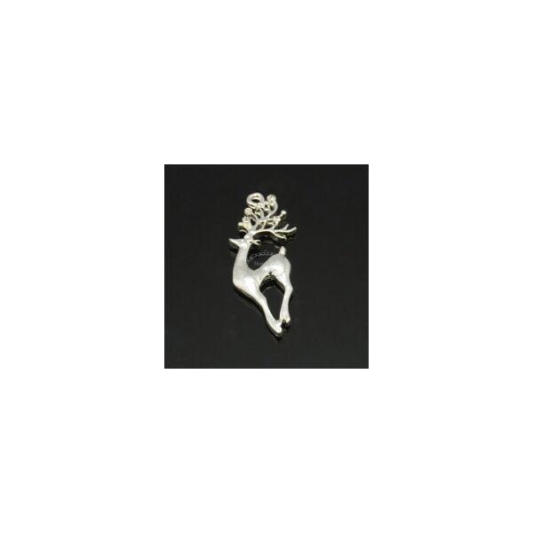 Ezüst strasszos rénszarvas medál