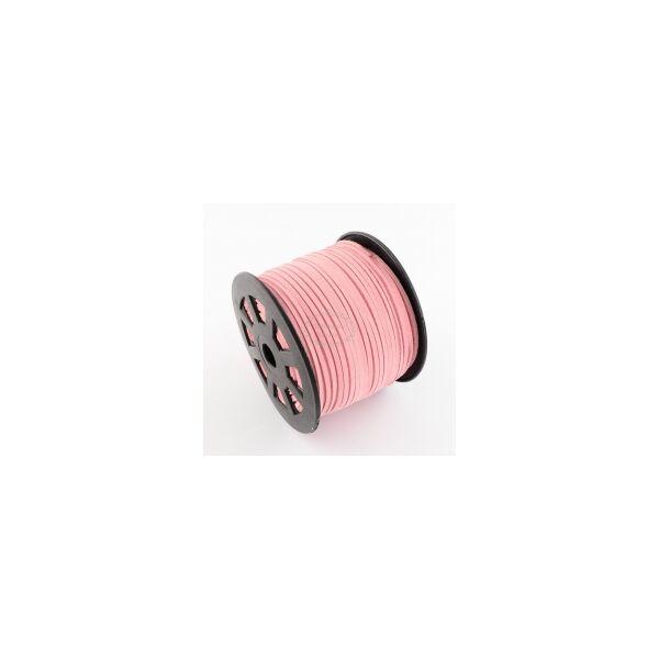 Halvány pink hasított bőrszál (3mm)