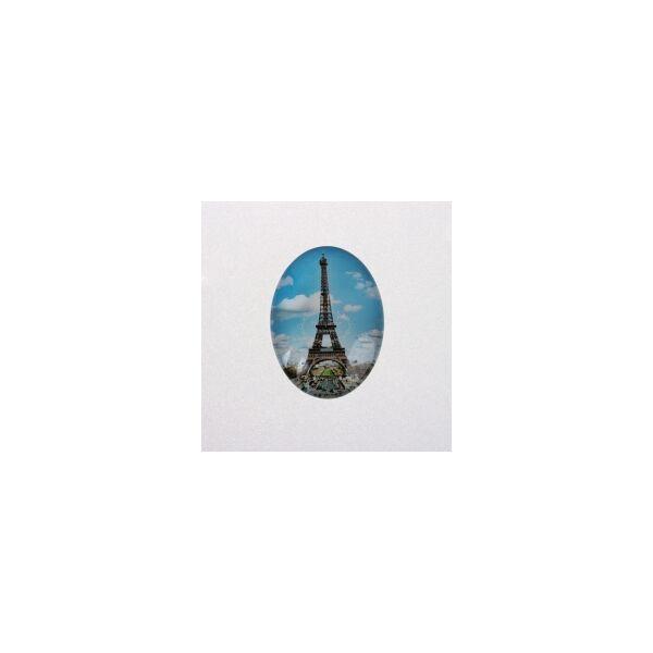 Eiffel torony mintás üveglencse (18x25mm)
