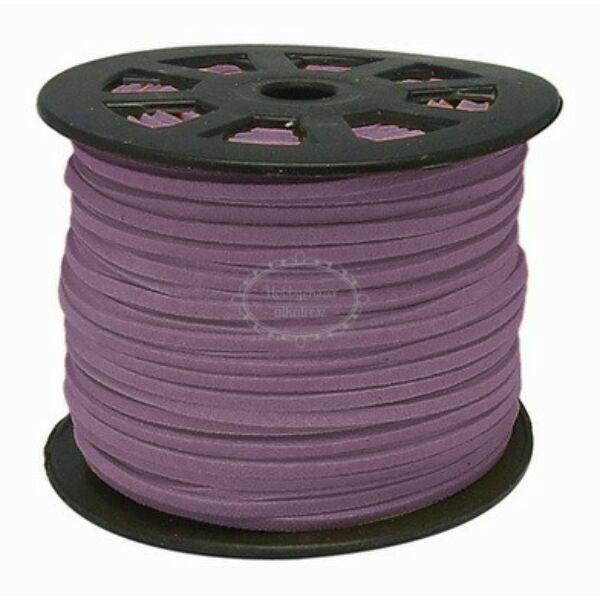 Közép lila hasított bőrszál (3mm)