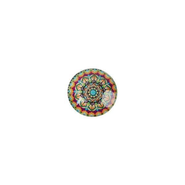 Mandala mintás üveglencse (25mm)