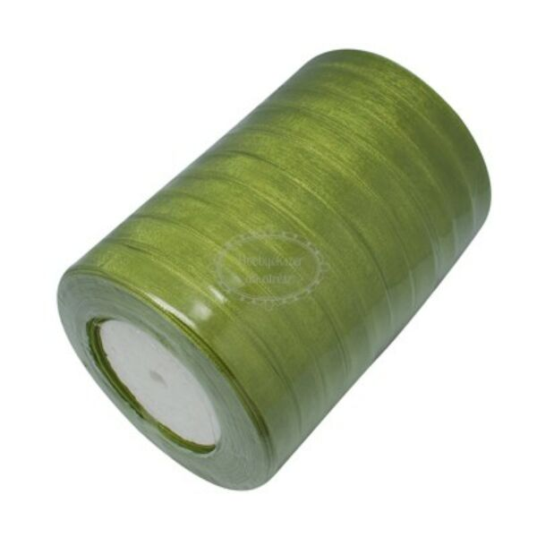 Olivazöld organza szalag (10mm)