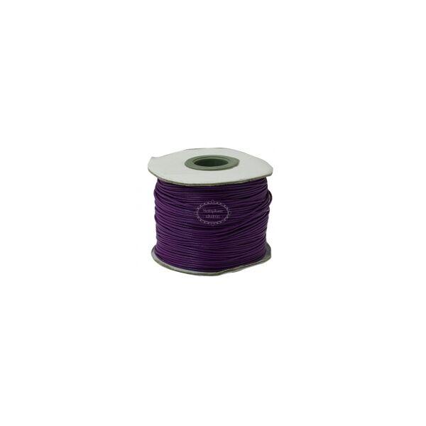 Padlizsánlila viaszolt szál (1mm)