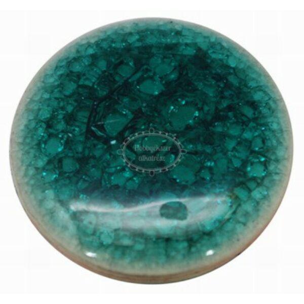 Türkiz színű porcelán korong (20mm)