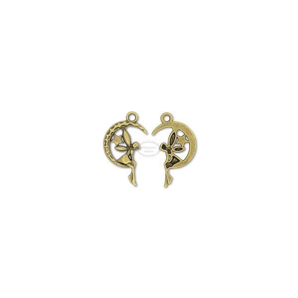 Antikolt bronz tündér fityegő