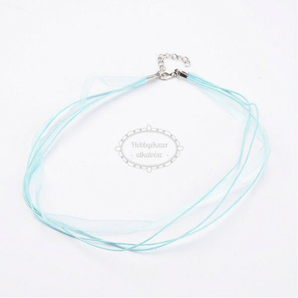 Világos kék organza nyaklánc
