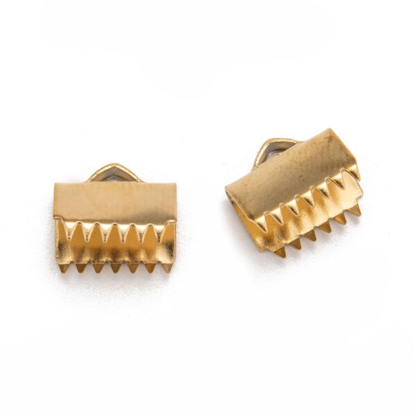 Arany színű nemesacél szalagvégzáró (10mm)
