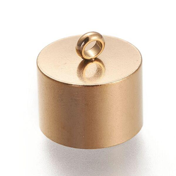 Nemesacél arany színű végzáró (10x10mm)