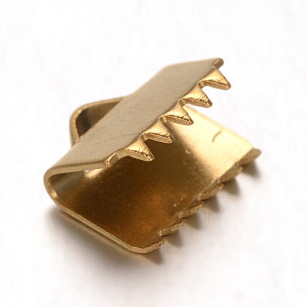Arany színű nemesacél szalagvégzáró (8mm)