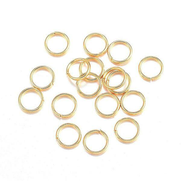 10db arany színű nemesacél szimpla szerelőkarika (4mm)