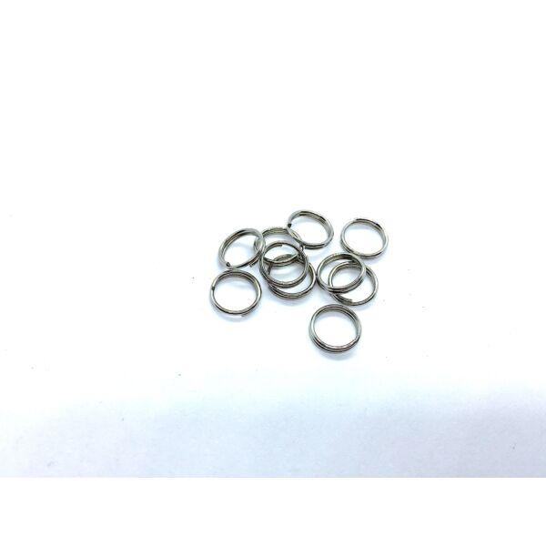 10db antikolt ezüst színű dupla vastag szerelőkarika (8mm)