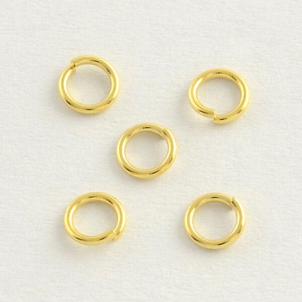 10db Arany színű nemesacél szimpla szerelőkarika (6mm)