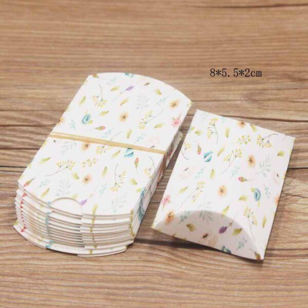Réti virágos papír dísztasak (10x6cm)