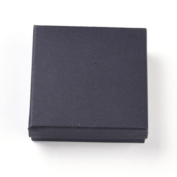 Fekete papír díszdoboz (9,1x9,1x2,9cm)