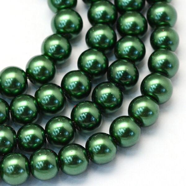 30db Sötét zöld tekla üveggyöngy (6mm)