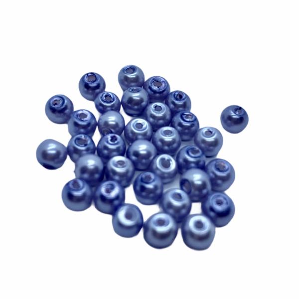 30db Világos kék tekla üveggyöngy (4mm)