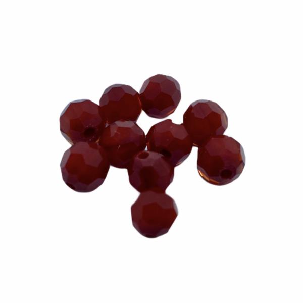 10db telt piros üveggyöngy (6mm)