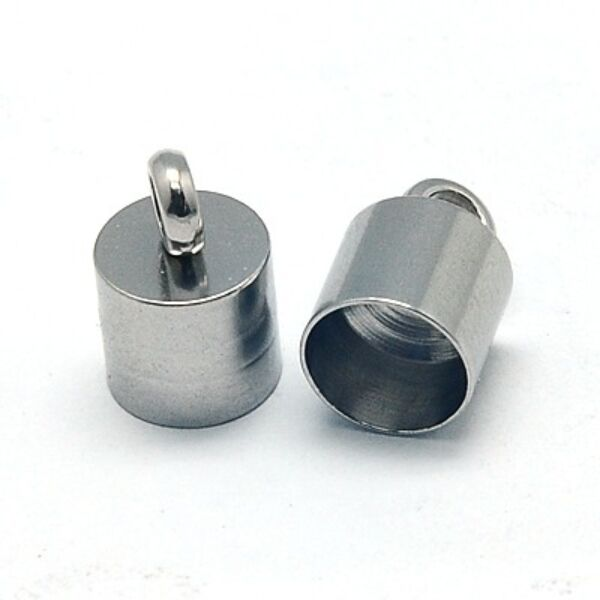 Nemesacél végzáró (10x6,5mm)