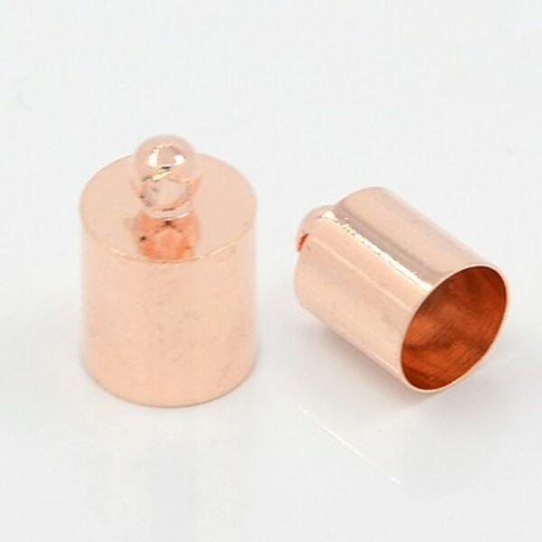 Rozé arany színű végzáró (11x7mm)