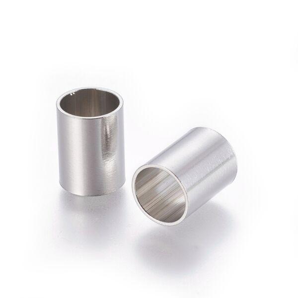 Nemesacél cső alakú gyöngy (8x7mm)