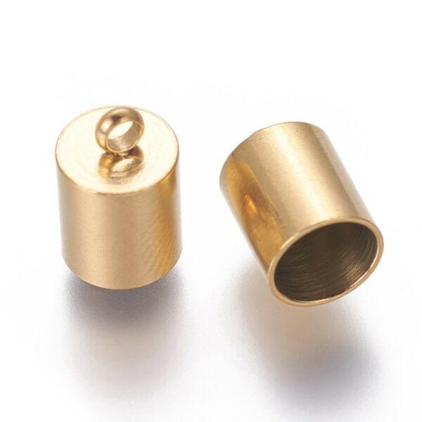 Nemesacél arany színű végzáró (7x11mm)