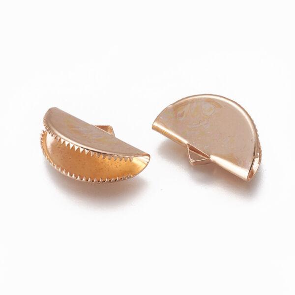 1db Rozé arany színű szalagvégzáró (12x20mm)