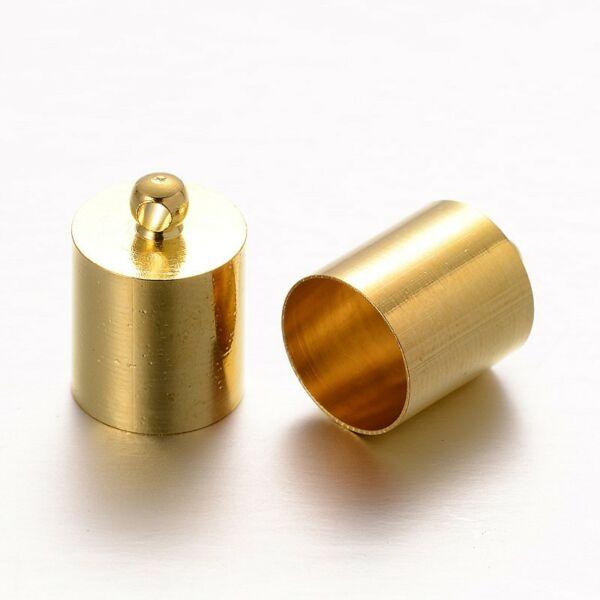 Arany színű végzáró zsinórhoz (11x7mm)