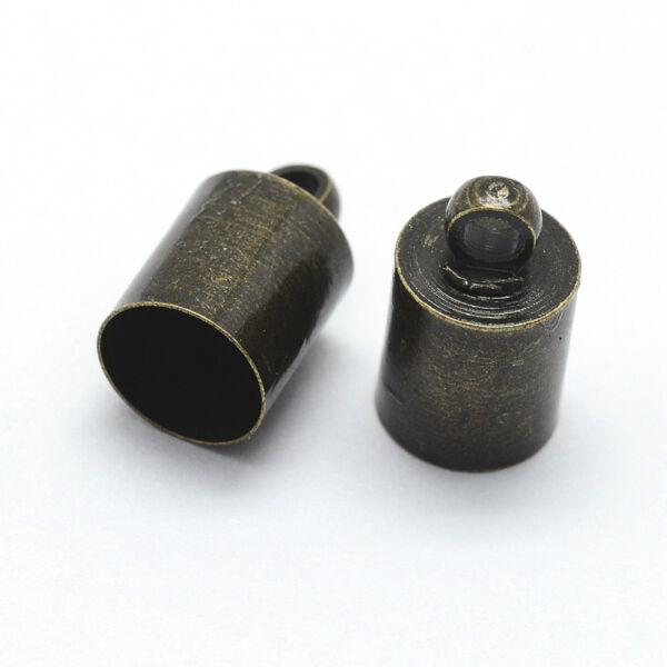 Antikolt bronz színű végzáró (16x14mm)