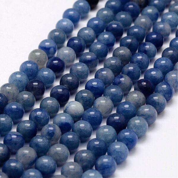 Kék aventurin ásványgyöngy (8mm)/10db