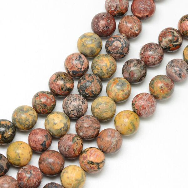 Leopárd jáspis ásványgyöngy (8mm)/10db