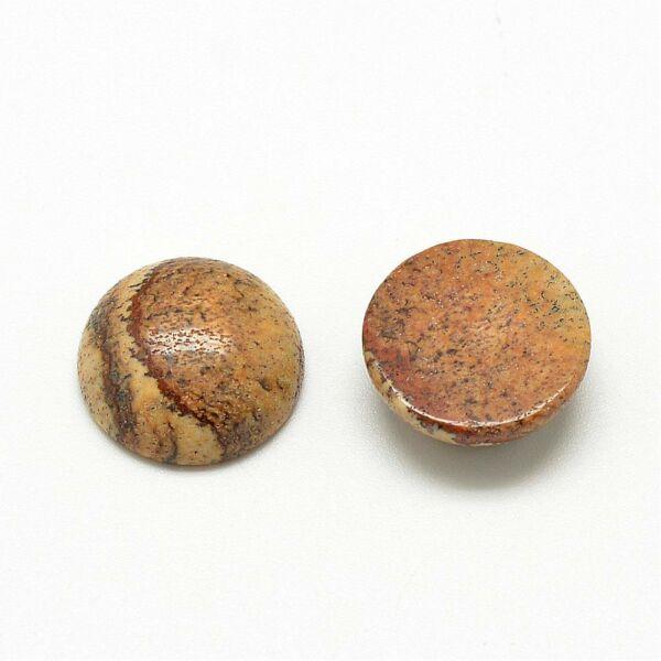 Képjáspis ásványkabochon (10mm)
