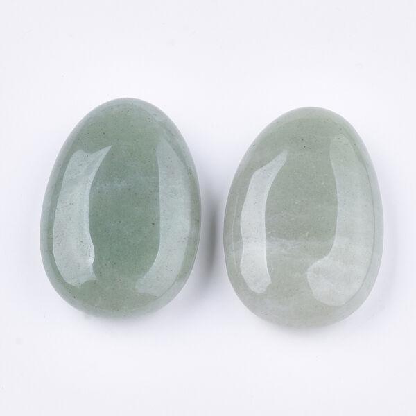 Zöld aventurin furatlan ásványmedál (45x30x15mm)